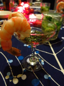 Chinese Poached Shrimp with Dipping Sauce