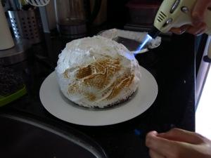 Torching Baked Alaska