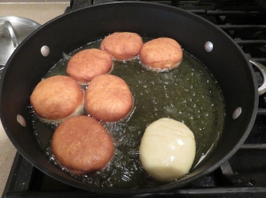 Yeast Donuts Frying