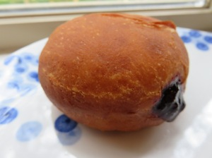 Yeast Donut with Blueberry Filling